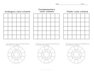 Worksheet 2 Color Scheme Designs
