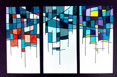gallery triptych design