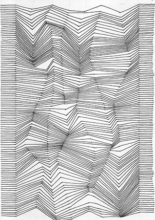 Drawing With Lines Optical Design Art Lesson