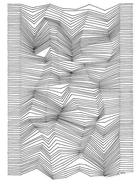 Drawing Lines In Photo : Drawing with lines optical design art lesson