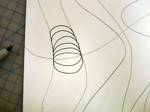 Op Art Line Design Lesson : Optical design colored pencils abstract coloring art lesson