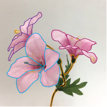 flower drawing step