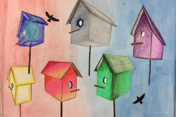 birdhouses coloring