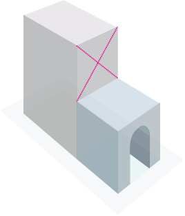 house in perspective