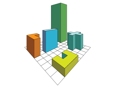 3D forms on a grid