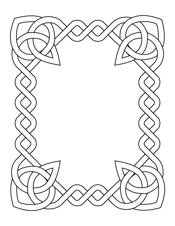 Celtic knot design  Art lesson