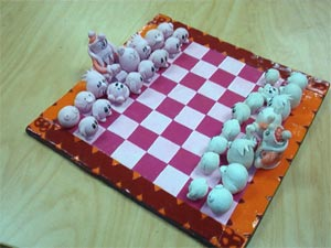 polymer clay chess