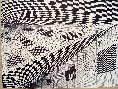Op Art Line Design Lesson : Op art optical illusions lesson