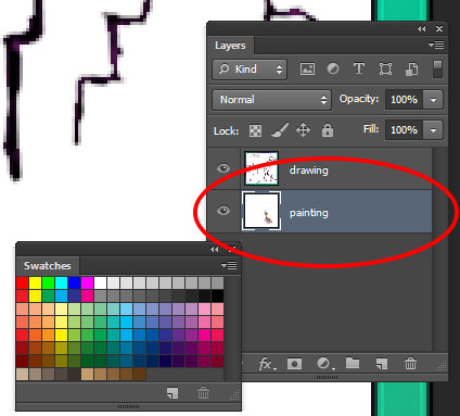 selecting a layer