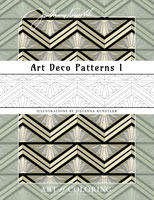 coloring art deco patterns