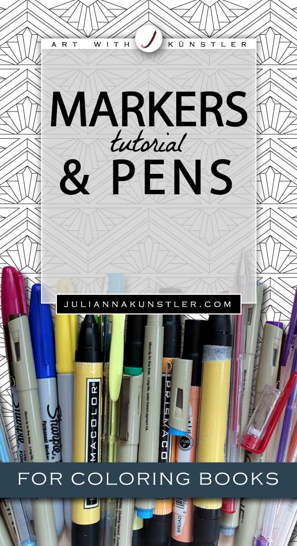 How to use markers and pens in your coloring book project. Tips and tutorials.