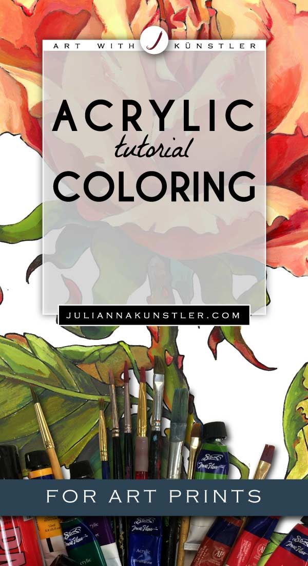 How to use acrylics in your coloring projects. Tips and tutorials for coloring art prints.