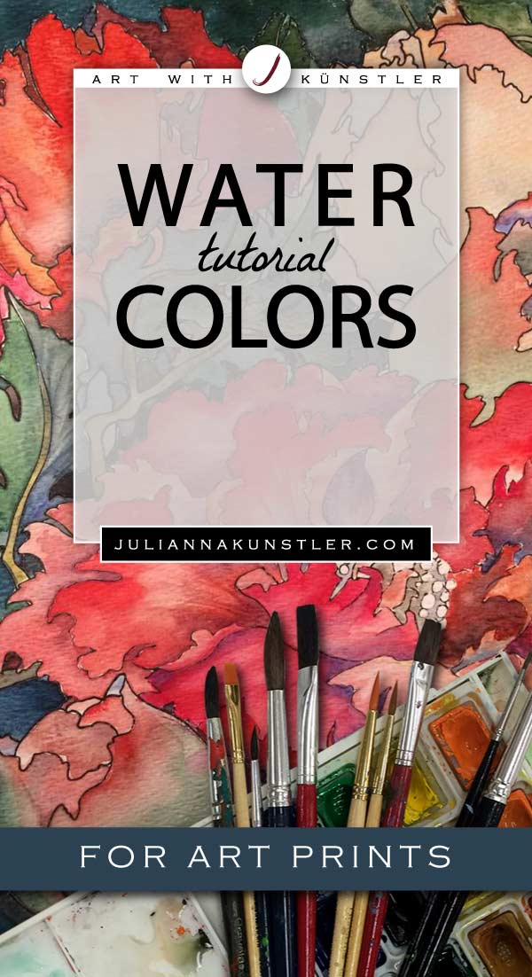 How to use watercolor paint in your coloring projects. Tips and tutorials for coloring art prints.