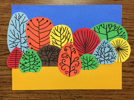 Fall collage. Exploring Art lesson.