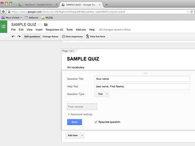 Self-grading test using Google Forms  Tutorial