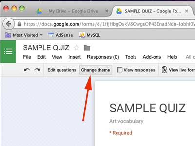 google quiz design
