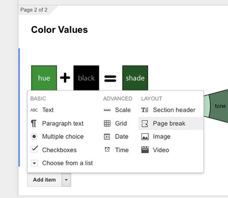 how to add image on google form