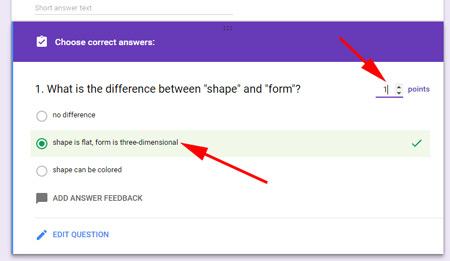 Google Quiz  Easy grading  Tutorial