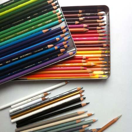 Art of Coloring. Colored pencils basics.